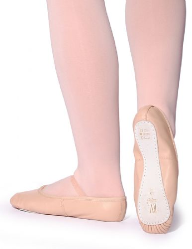 Roch Valley pink leather ballet shoe